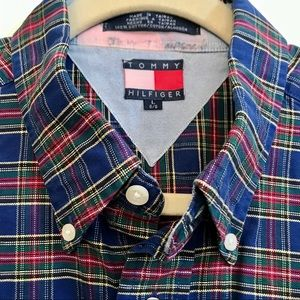 Tommy Hilfiger Shirts - Vintage Thick Tommy Hilfiger Plaid LS Button Down